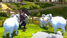 Villagers and Heroes: Tending to sheep