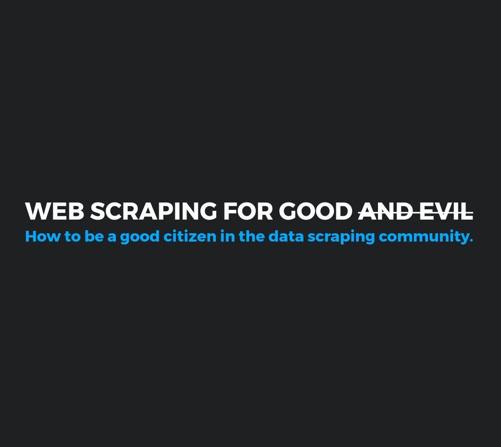 Python Buffalo: Web Scraping for Good