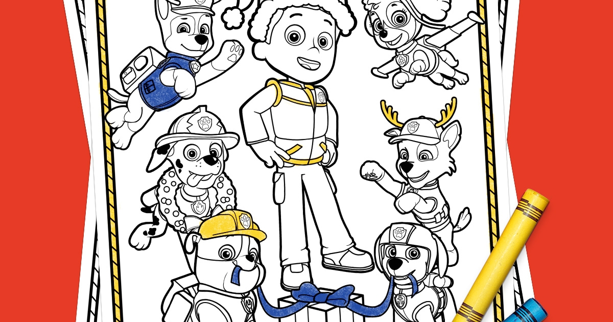 Paw Patrol Holiday Coloring Pack Nickelodeon Parents