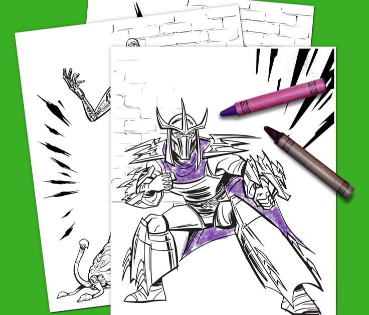 Shredder Teenage Mutant Ninja Turtles Coloring Page | Ninja turtle ... | 630x736