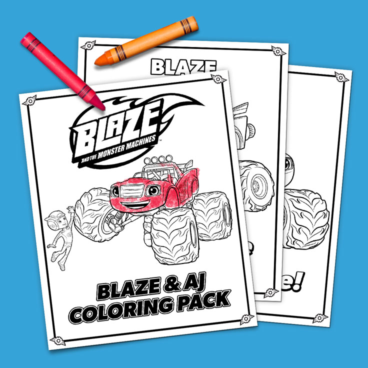 Coloriage Blaze Pdf.Blaze And Aj Coloring Pack Nickelodeon Parents