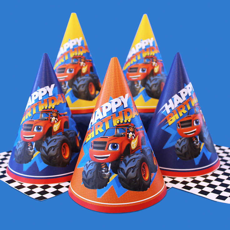 Blaze And The Monster Machines Birthday Party Hats Nickelodeon Parents