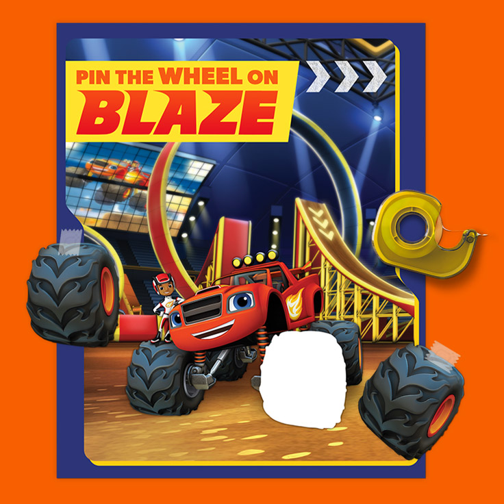 SaveSave To Pinterest Pin The Wheel On Blaze Gear Up For This Classic Party