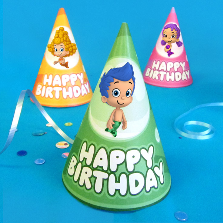 Bubble Guppies Birthday Party Hats