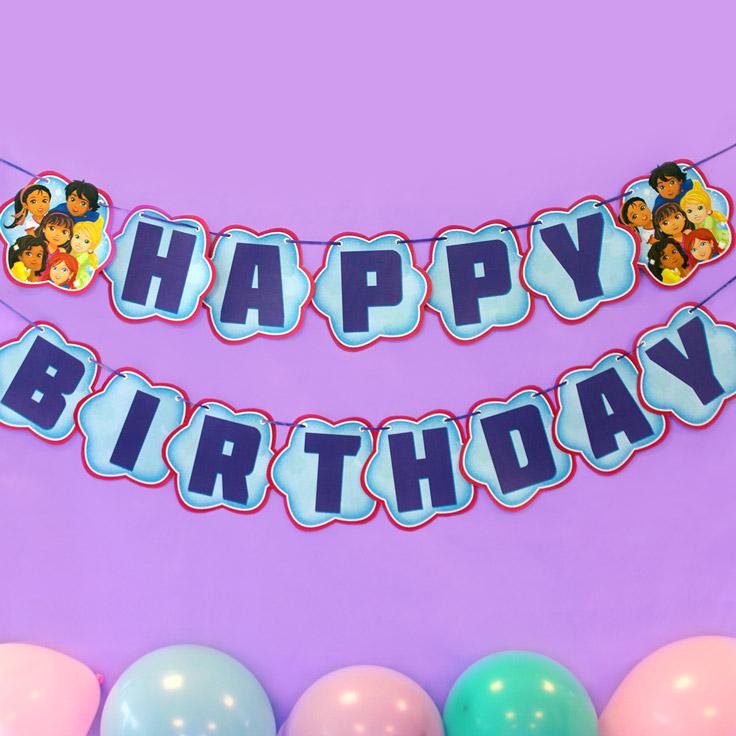 Dora and Friends Birthday Banner
