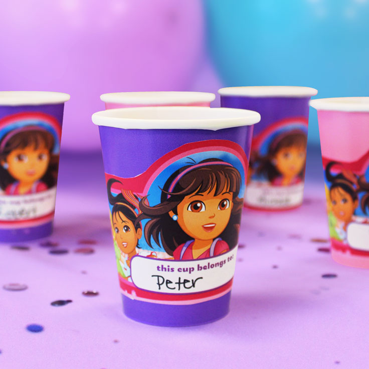 Dora and Friends Cup Wrappers