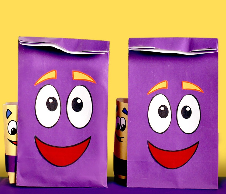 how to make dora the explorer backpack goodie bags