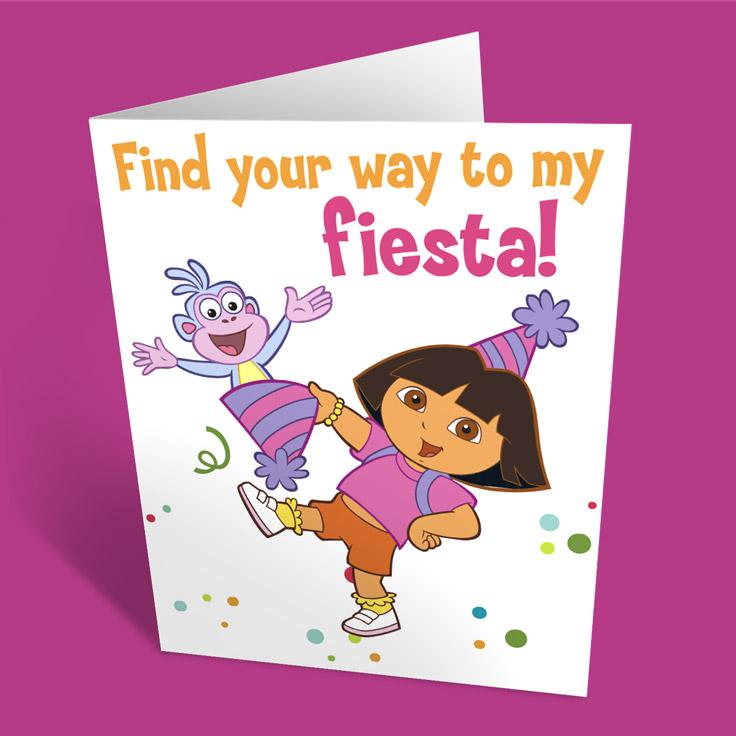 SaveSave To Pinterest Dora Party Invitation