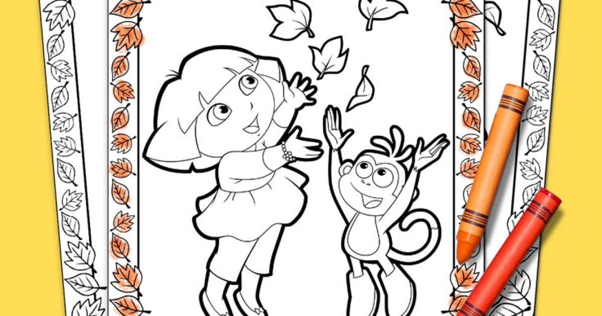 Dora The Explorer Thanksgiving Coloring Pack Nickelodeon