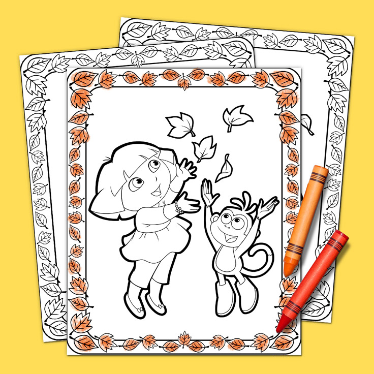 Dora the Explorer Thanksgiving Coloring Pack | Nickelodeon Parents