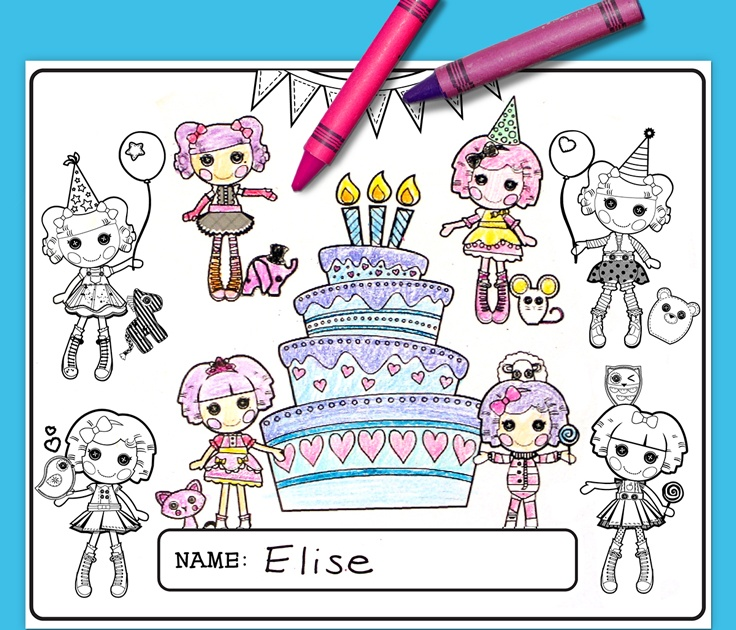 Lalaloopsy Birthday Party Placemat Nickelodeon Parents