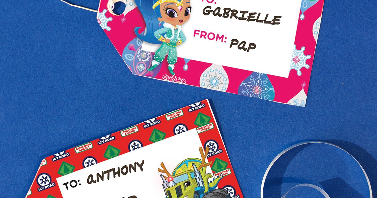 Nick Jr Holiday Gift Tags Nickelodeon Parents