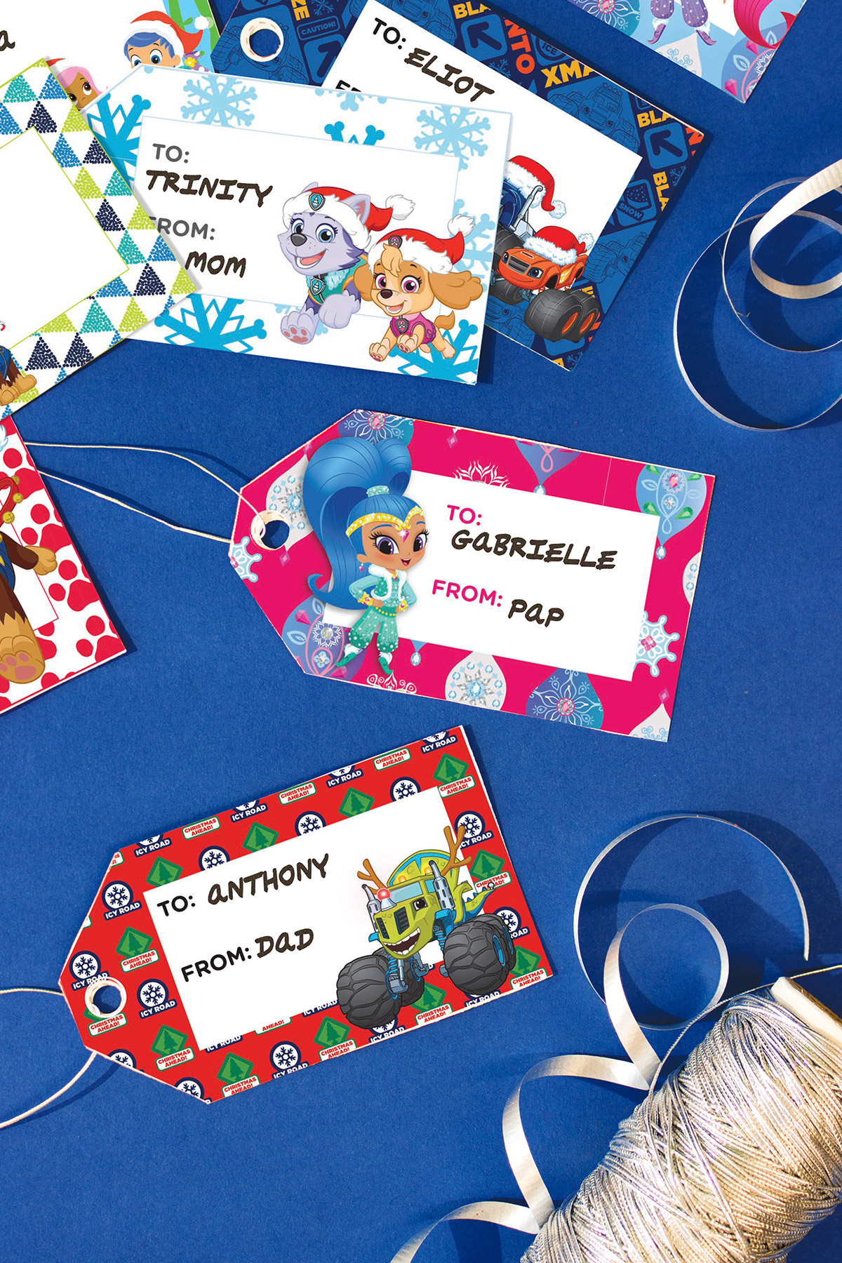 Nick Jr. Holiday Gift Tags