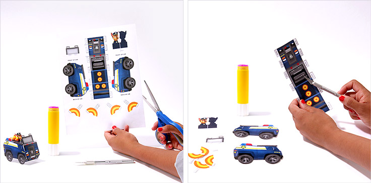 Chase Paper Vehicle Toy Craft Nickelodeon Parents