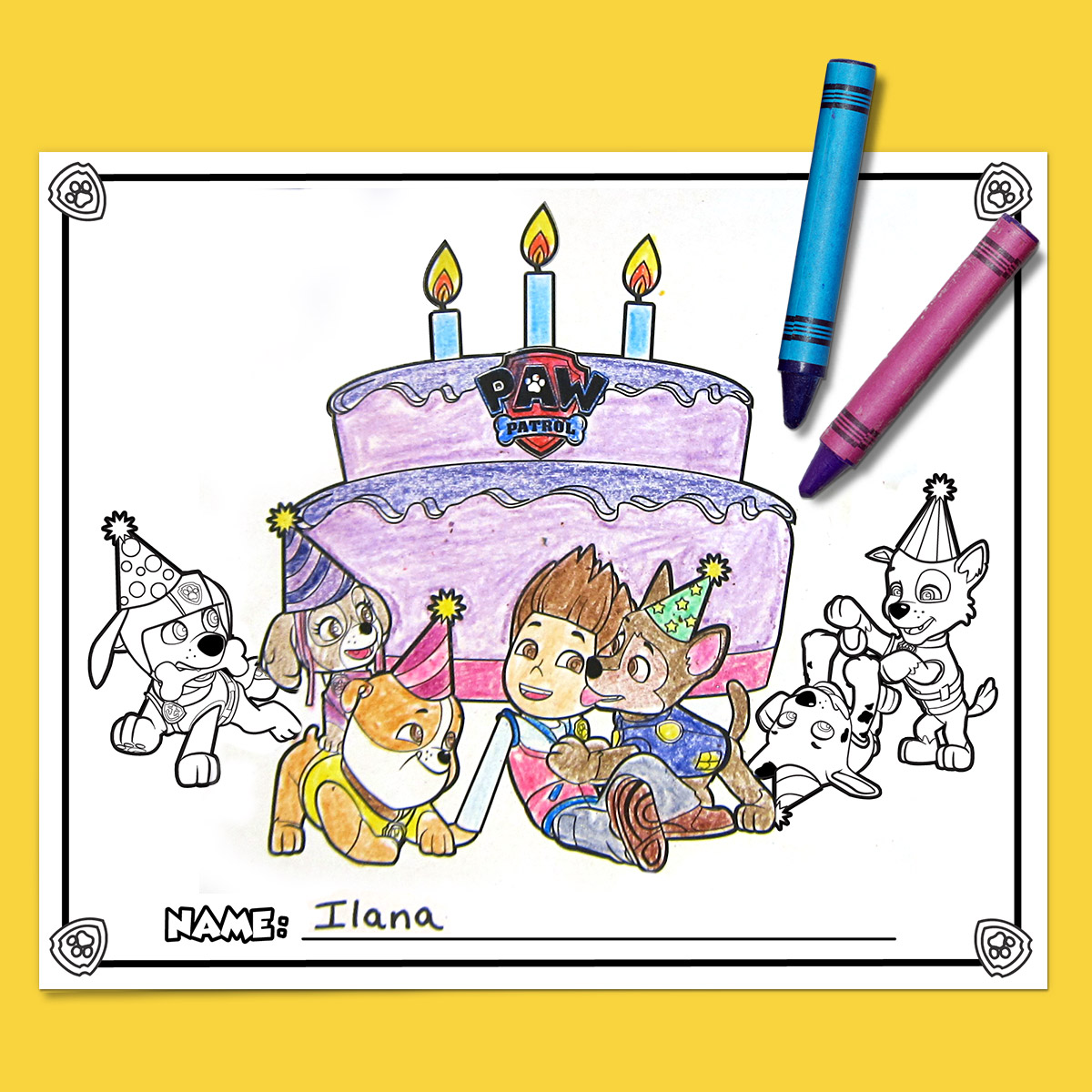 PAW Patrol Party Placemats