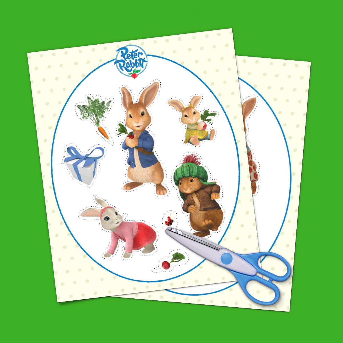 Peter Rabbit Goody Bag Stickers