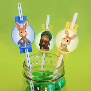 Peter's Funny Bunny Straw Toppers