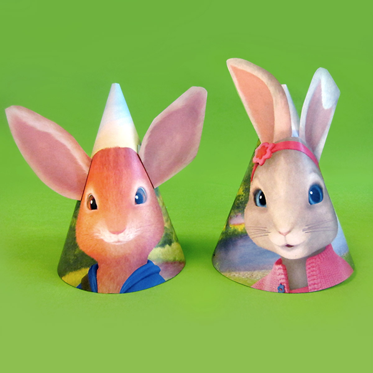 Peter Rabbit Party Hats