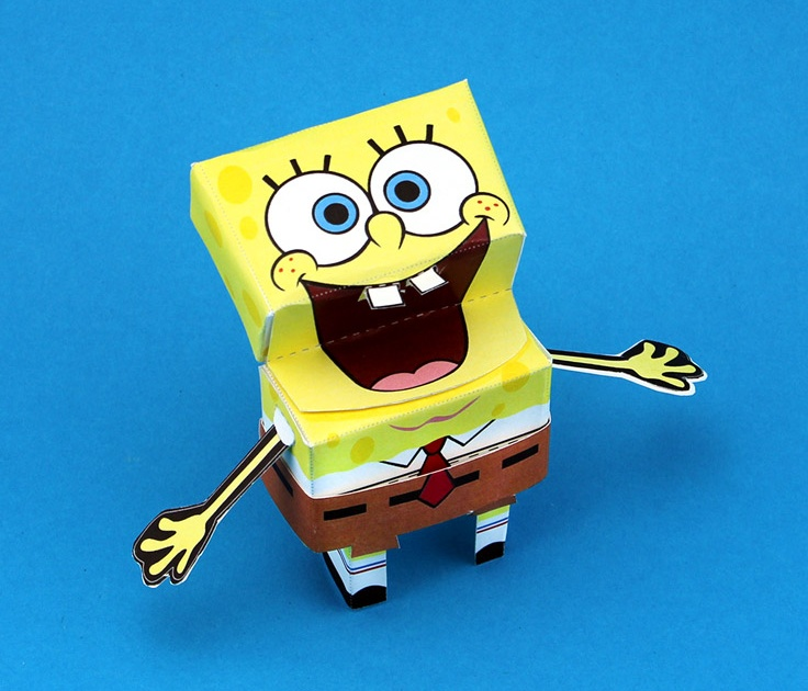 3 D Spongebob Paper Craft Nickelodeon Parents