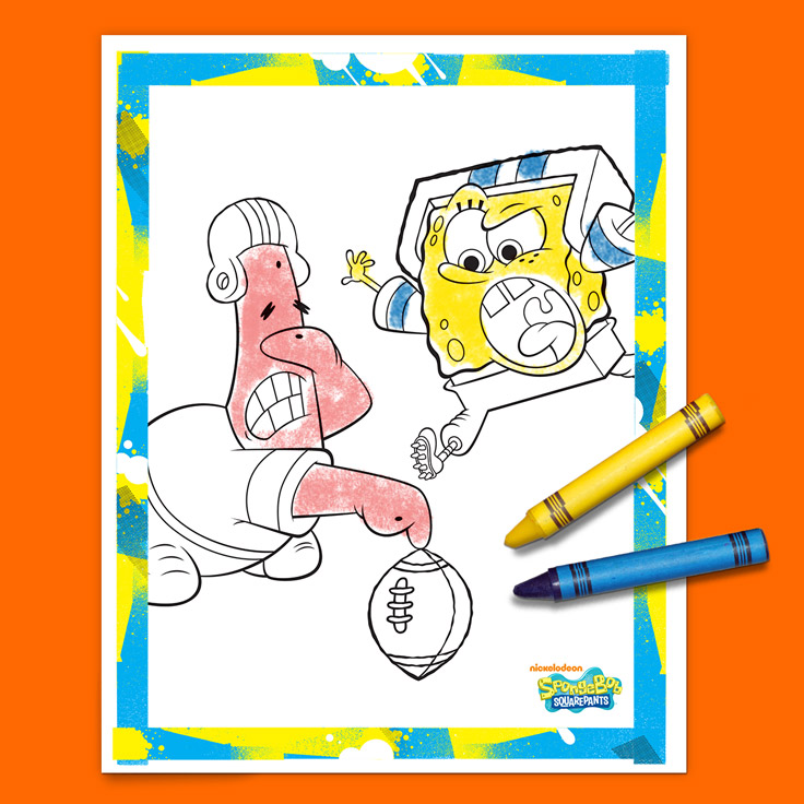 SpongeBob Football Coloring Pack
