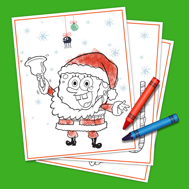 SpongeBob Holiday Coloring Pack