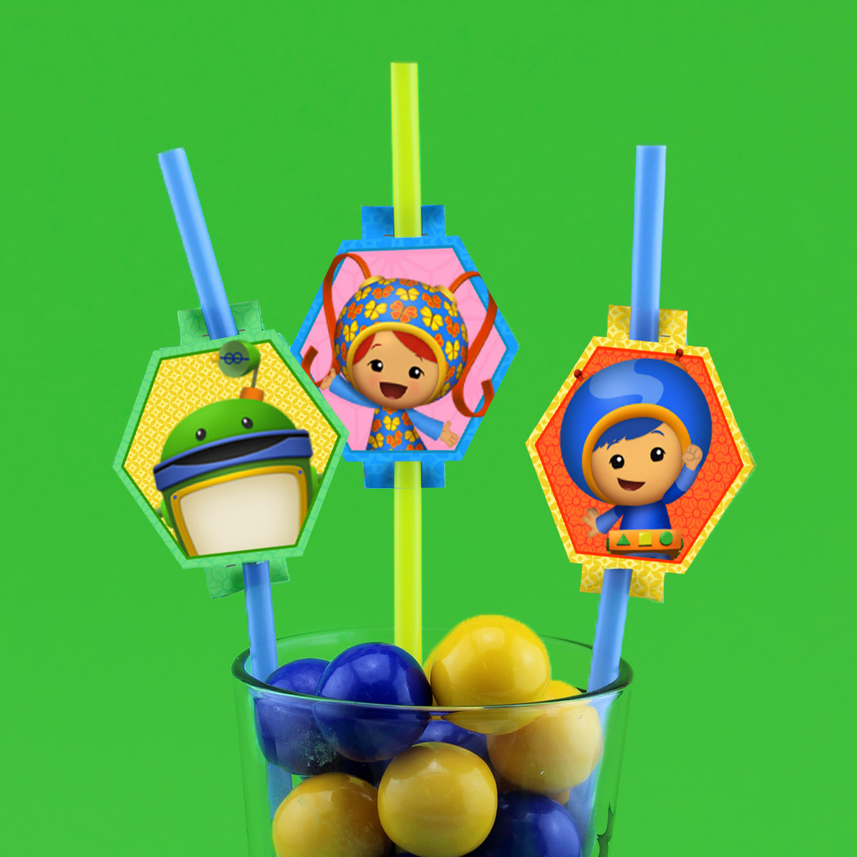 Umizoomi Straw Toppers