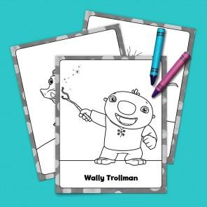 Wally, Wally, Wallykazam! Coloring Pack