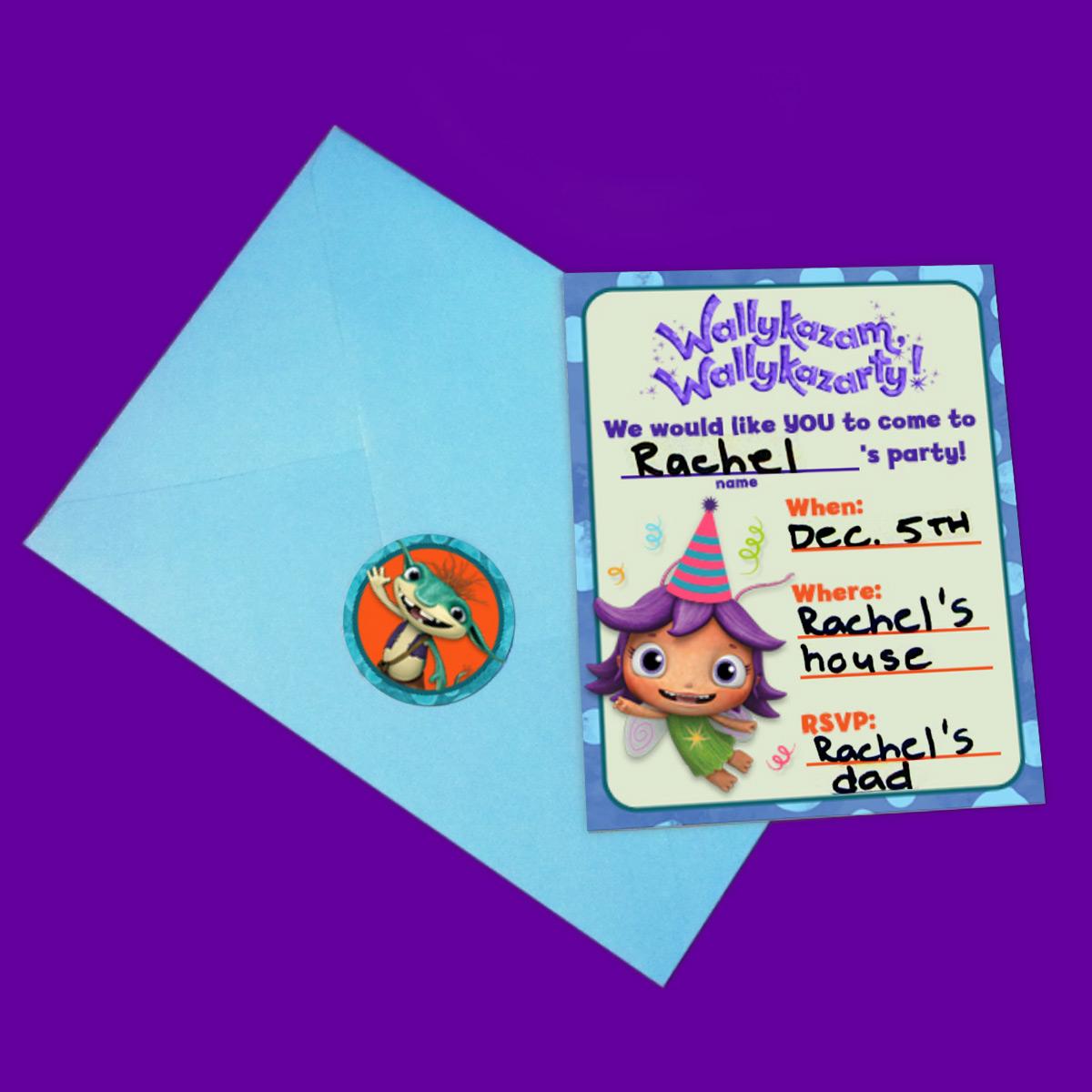 Wallykazam Party Invitations