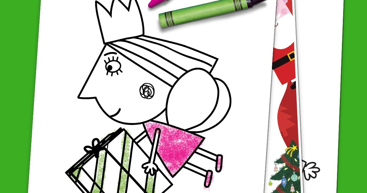 little-kingdom|Ben and Holly's Little Kingdom - Colouring Sheets ... | 630x1200