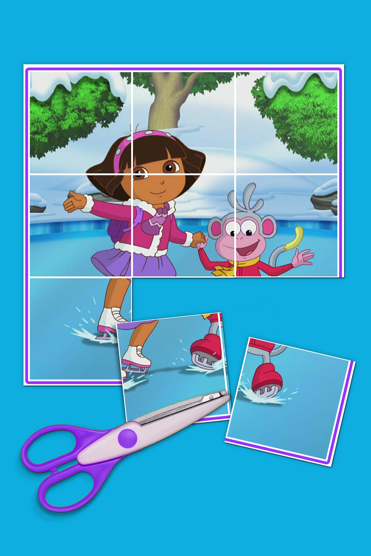 Dora And Boots Ice Skating Puzzle Nickelodeon Parents