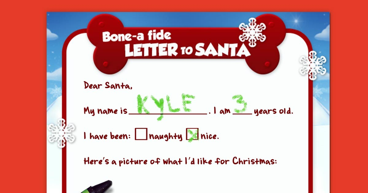 Paw Patrol Letter To Santa Nickelodeon Parents
