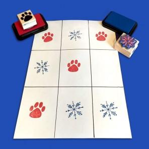 The Pups' Winter Tic Tac Toe