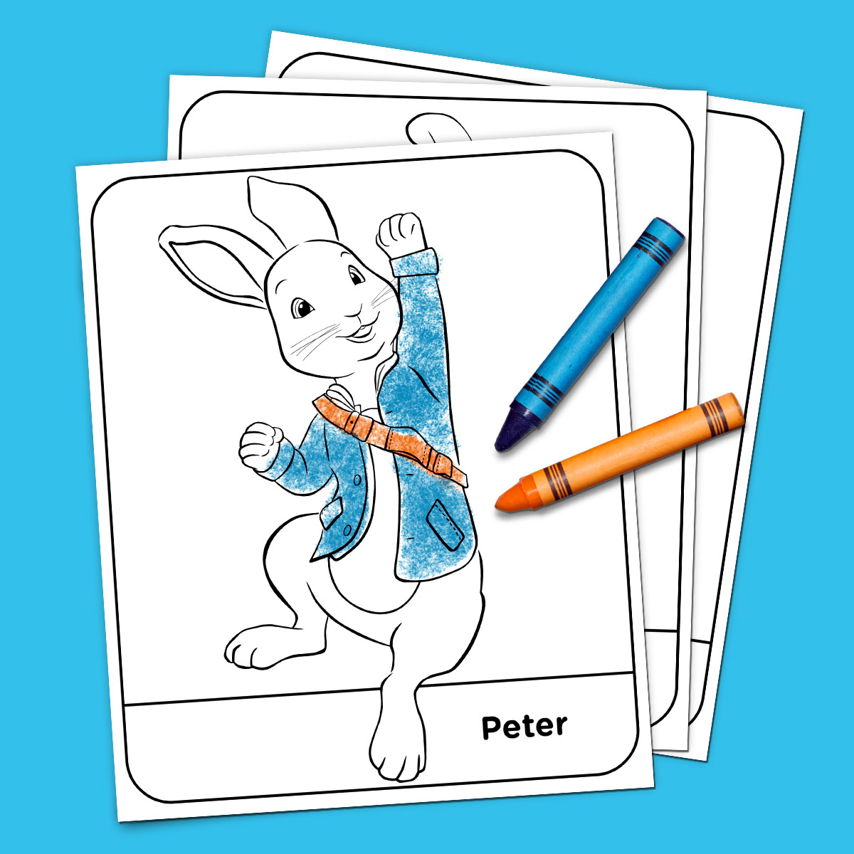 Peter Rabbit Coloring Pages Nick Jr