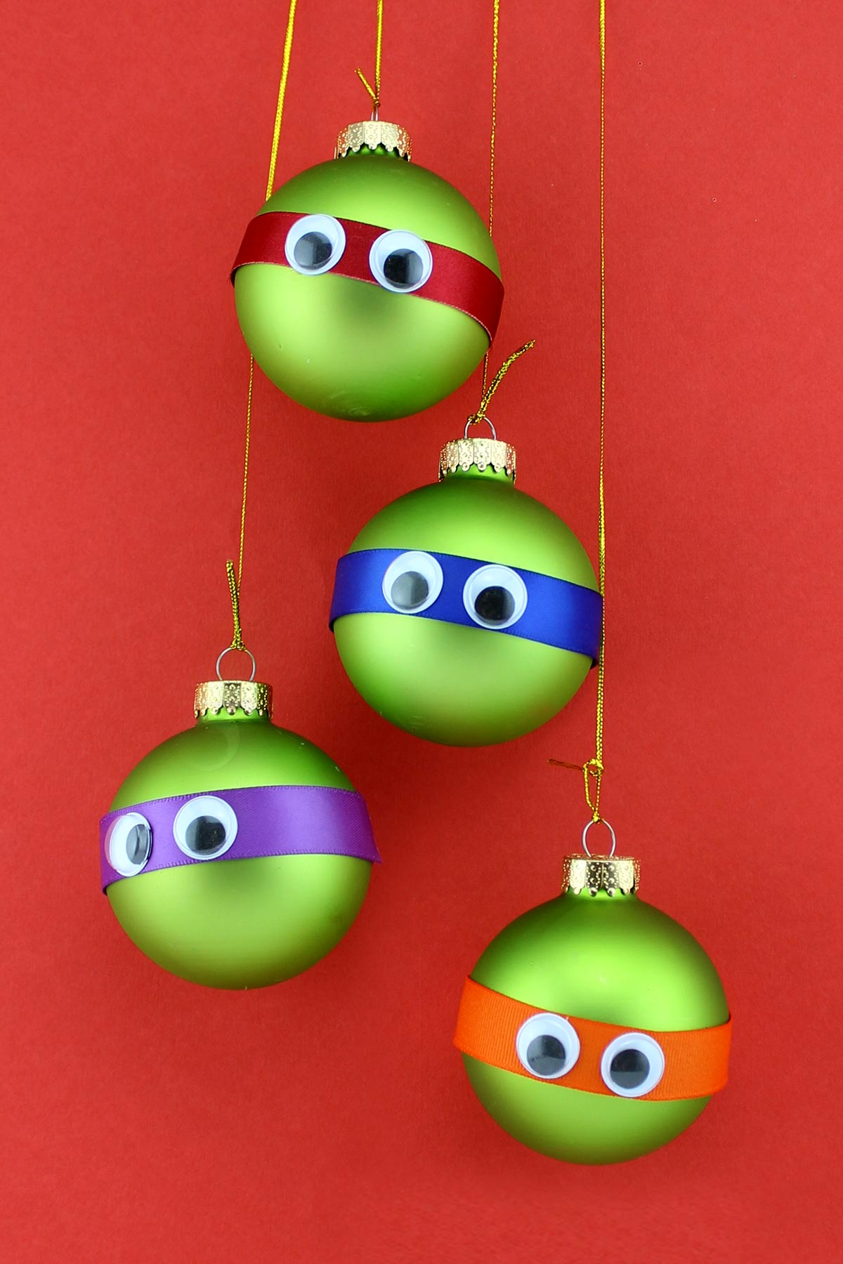 TMNT Googly-eyed Ornaments
