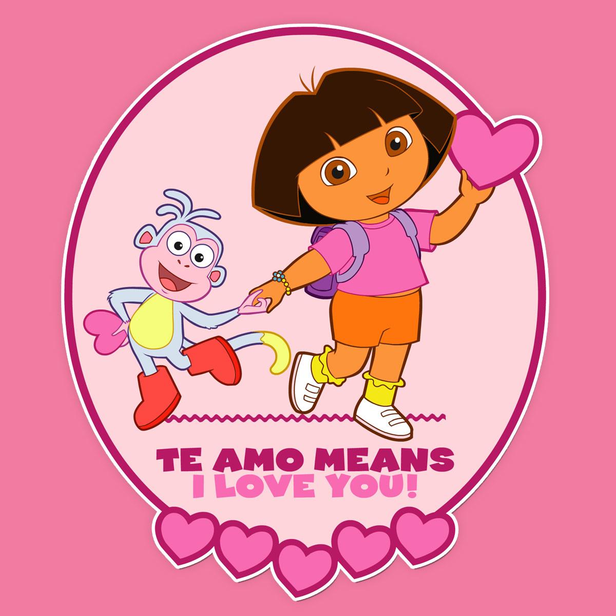 Dora Valentine's Day Card