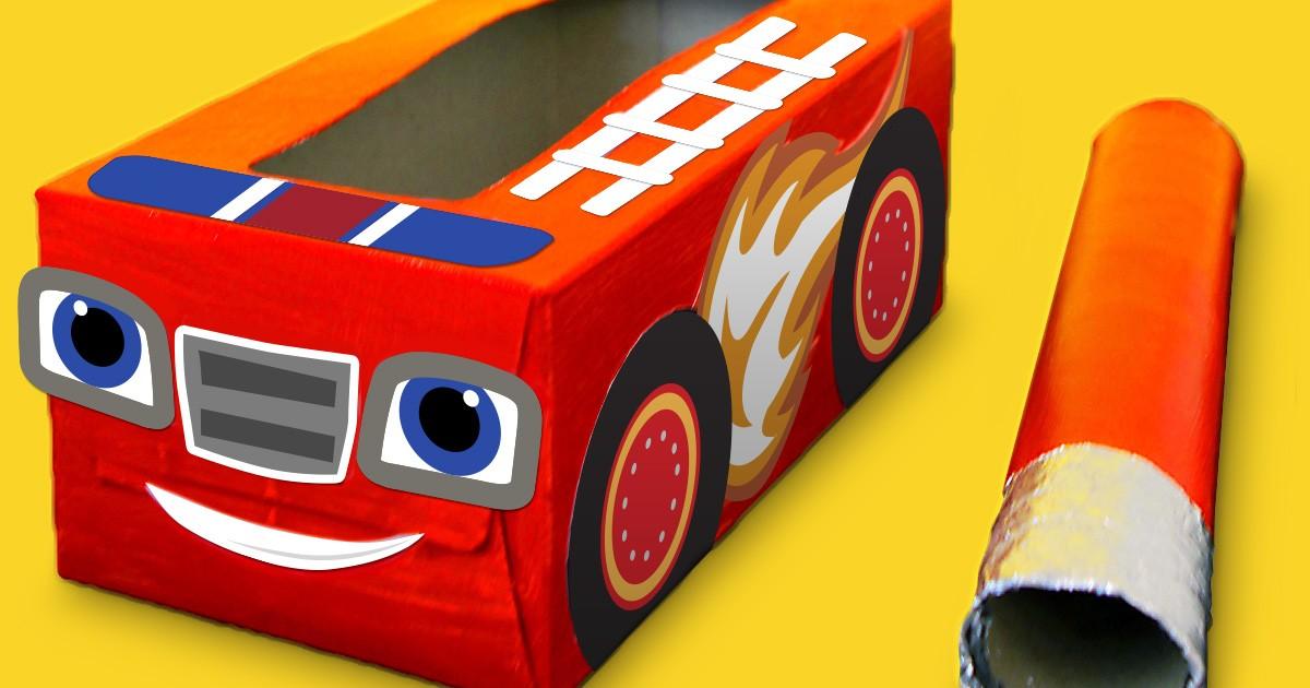 Blaze Fire Truck Tissue Box Craft Nickelodeon Parents