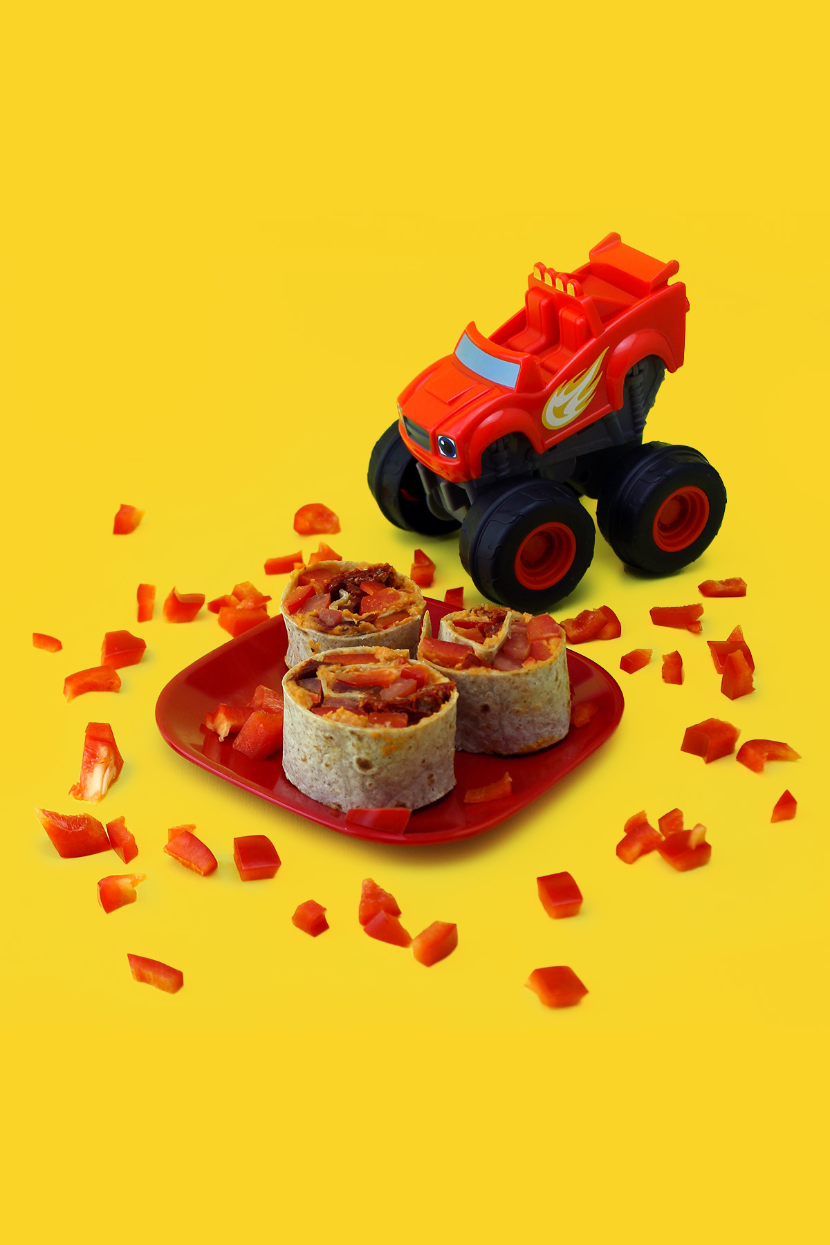 Blaze Firetruck Pinwheel Snacks