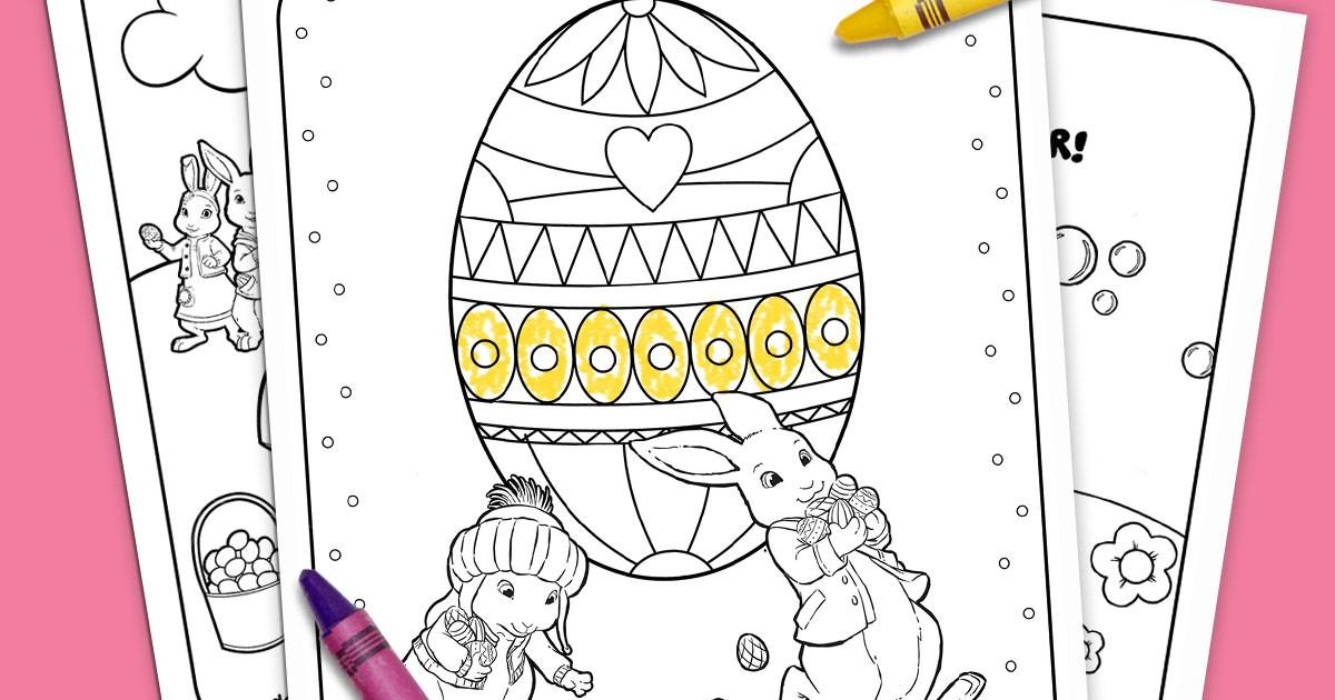 Nick Jr Printable Easter Coloring Pack Nickelodeon Parents