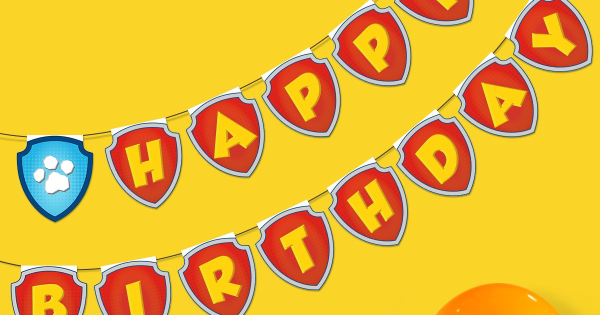 Paw Patrol Birthday Banner Nickelodeon Parents