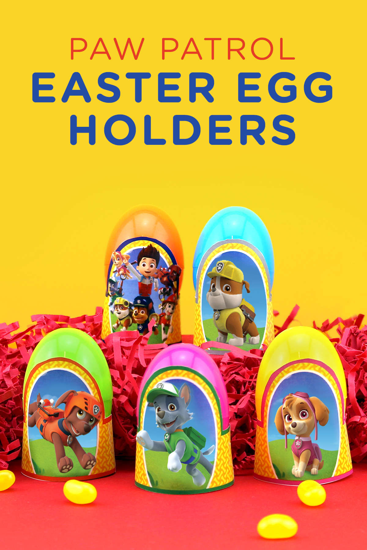 Paw Patrol Printable Easter Egg Holders Nickelodeon Parents
