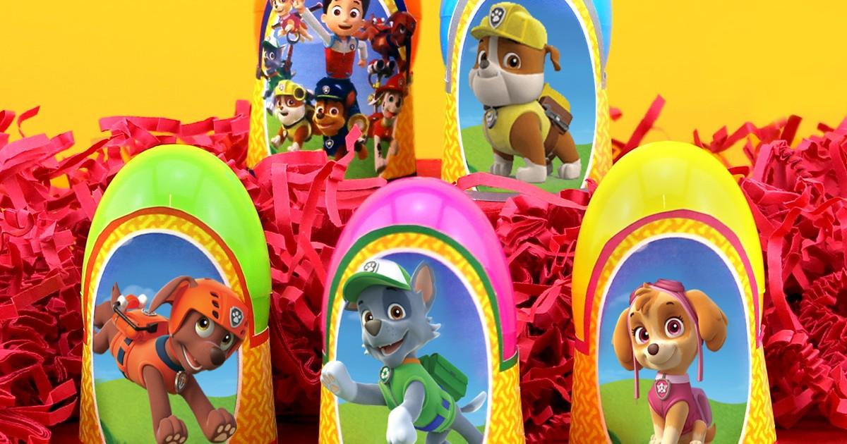 Paw Patrol Printable Easter Egg Holders Nickelodeon Parents