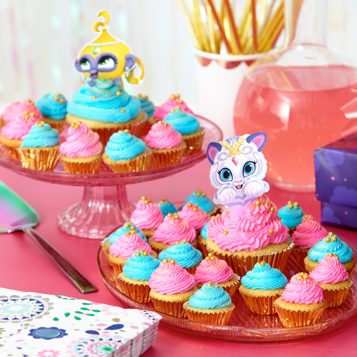 SaveSave To Pinterest Shimmer And Shine Printable Cupcake Toppers