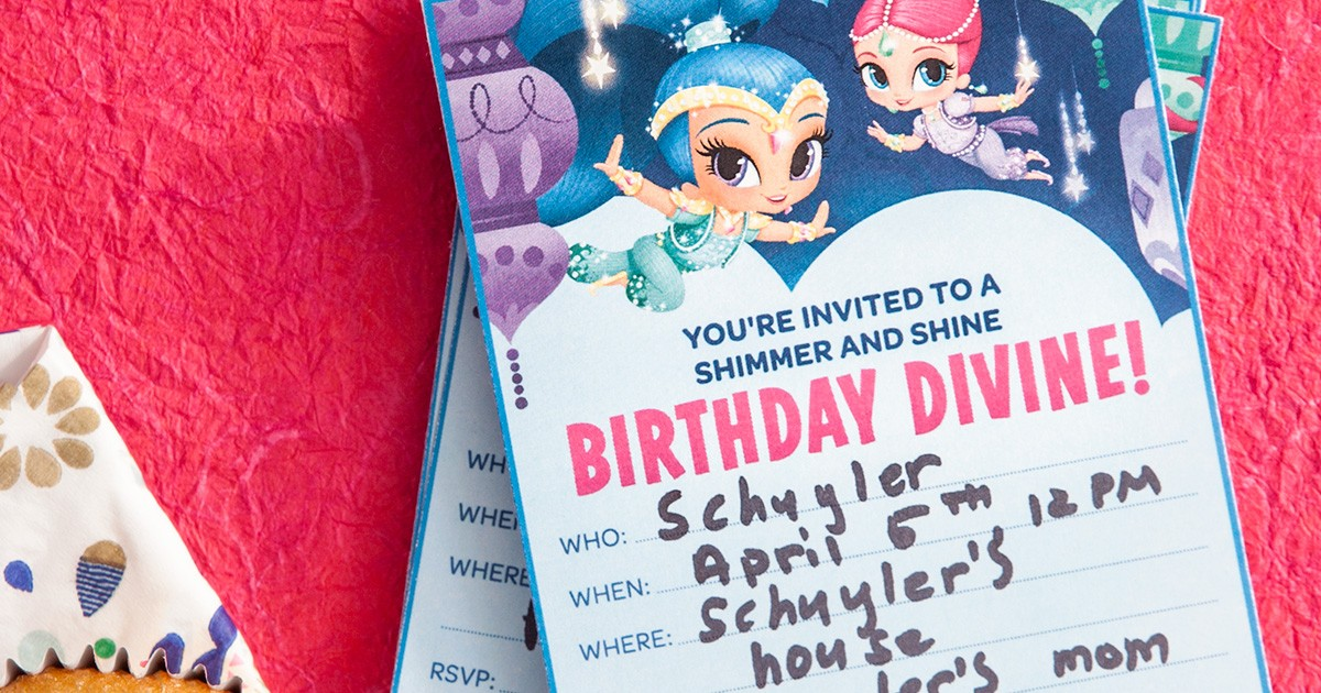 Genie Birthday Party Invitations Nickelodeon Parents
