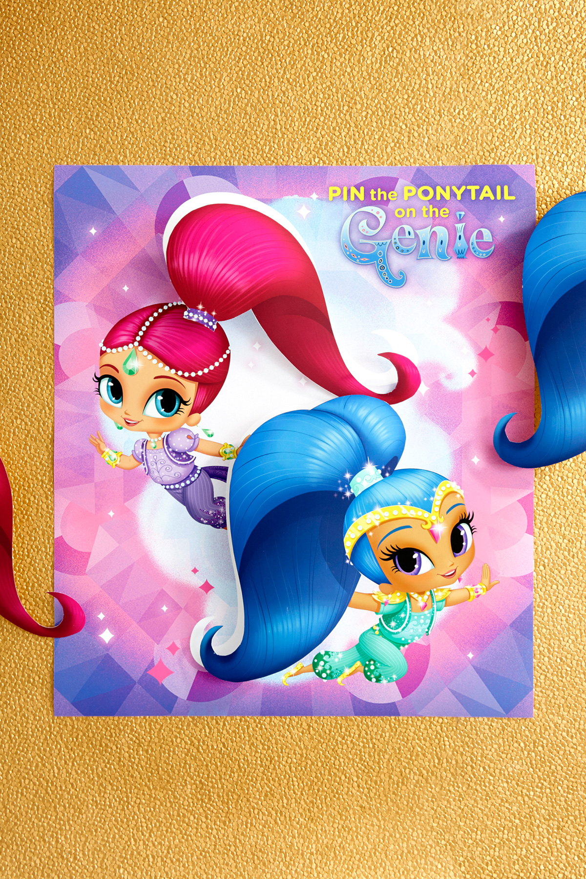 Pin the Ponytail on the Genie