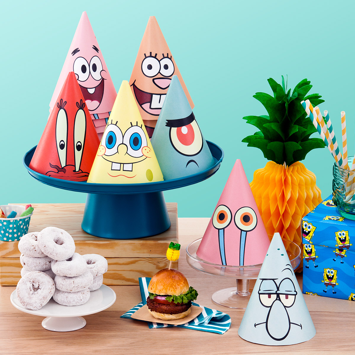 SaveSave To Pinterest SpongeBob Printable Party Hats