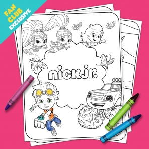 Fan Club Exclusive: Springtime Coloring Pack