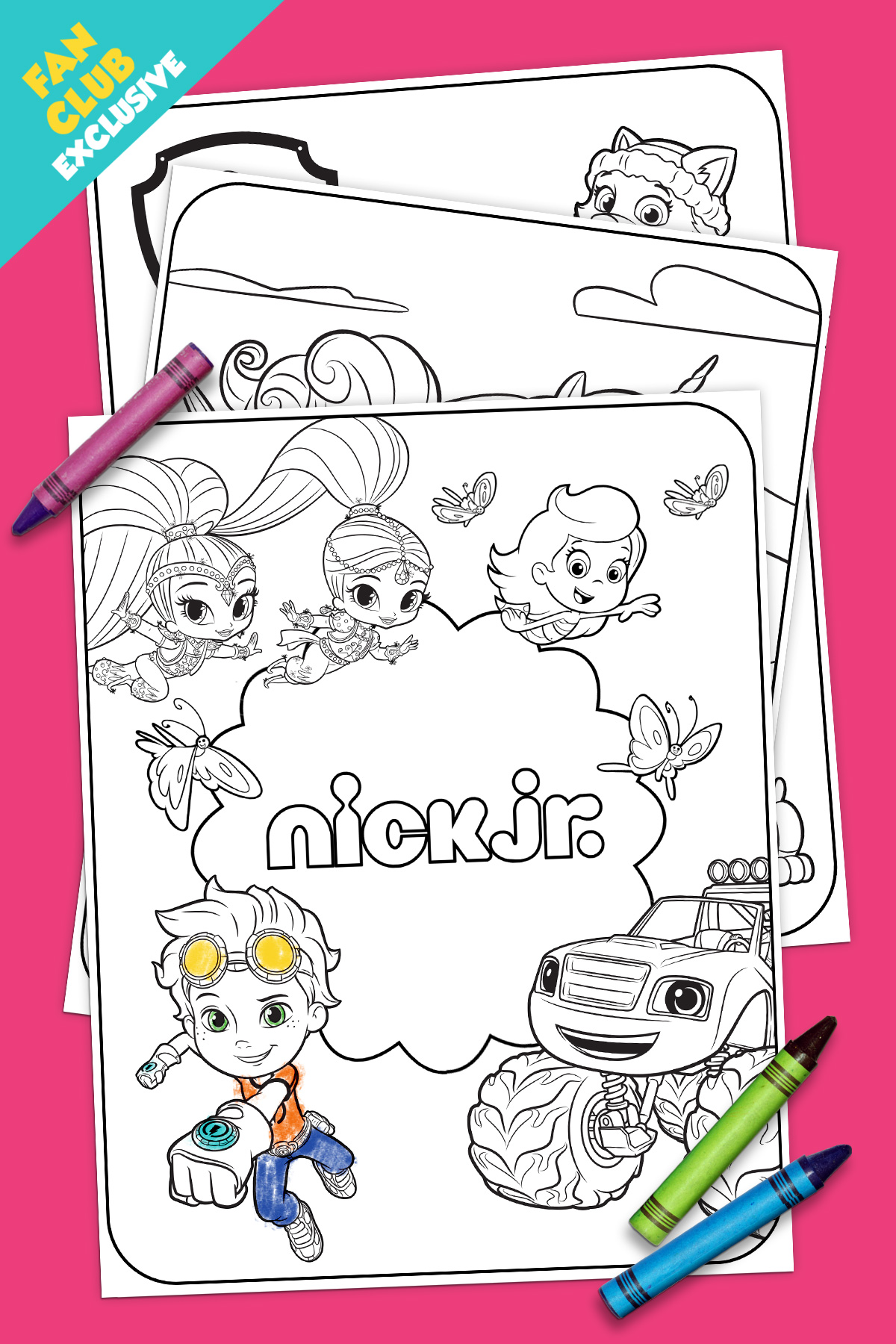 Fan Club Exclusive Spring Time Coloring Pack