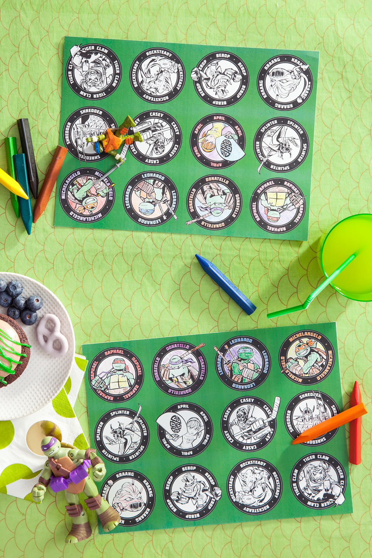 TMNT Printable Party Placemats