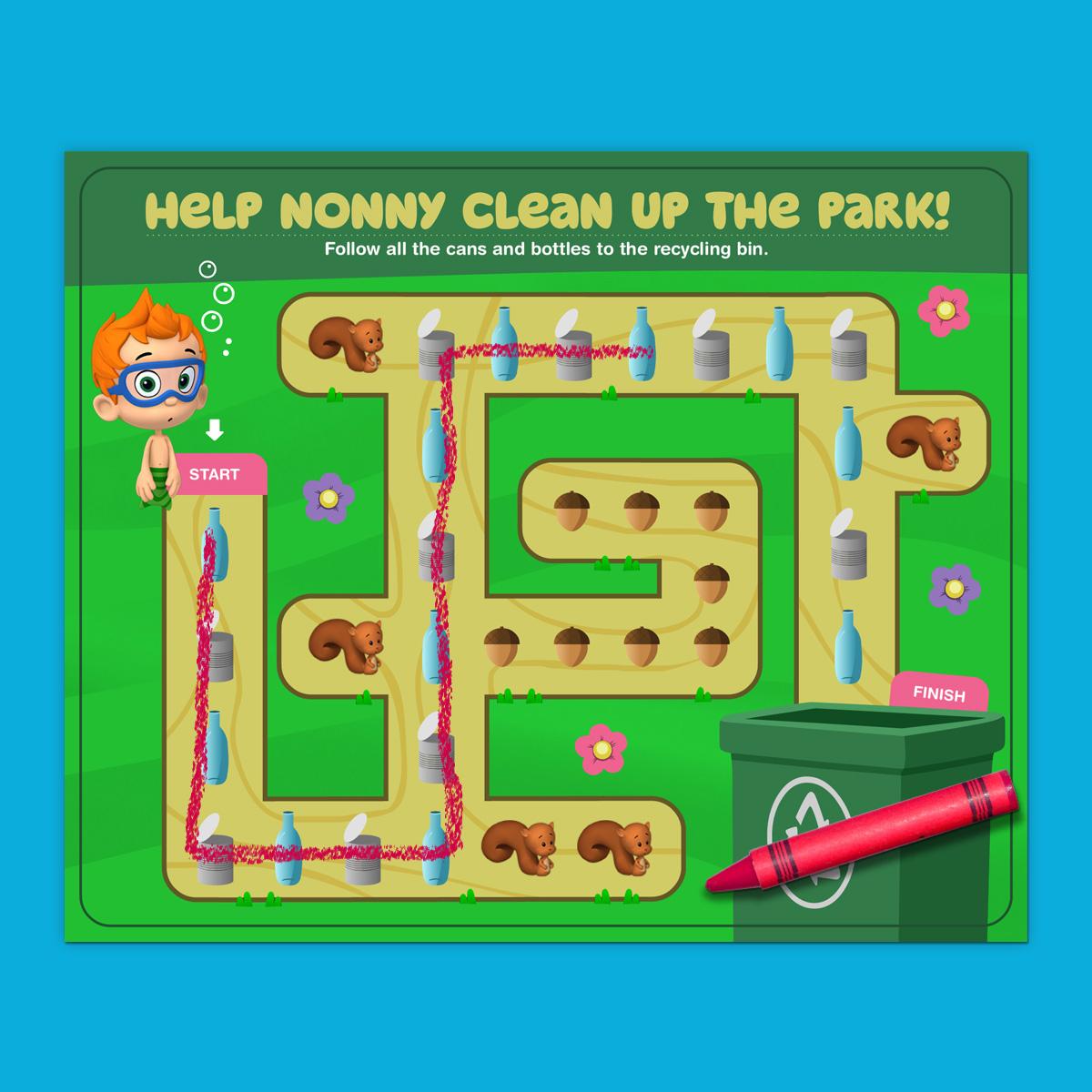 Nonny's Park Clean-up Maze
