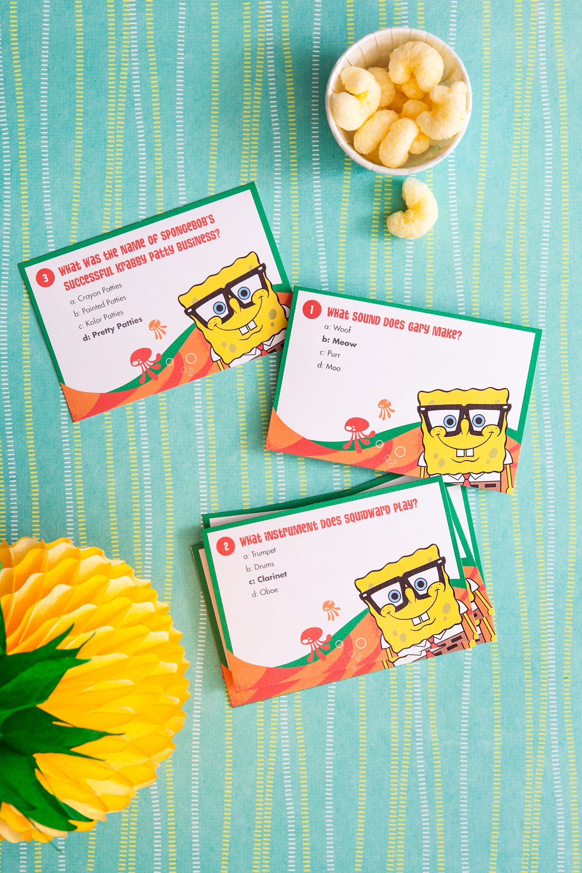 picture relating to Printable Trivia Games identify SpongeBob Printable Trivia Card Activity Nickelodeon Mothers and fathers